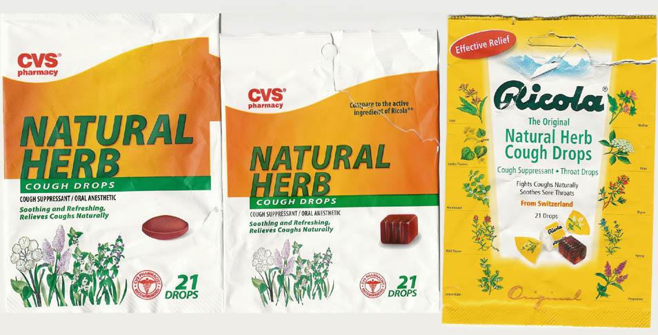 Ricola Versus Cvs Natural Herb Cough Drops Dan Spira