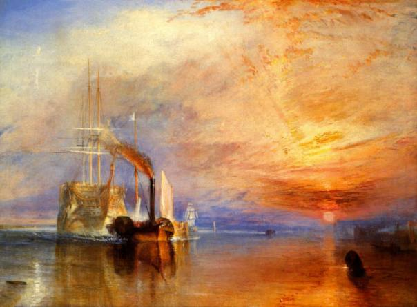 The Fighting Temeraire Tugged to Her Last Berth to Be Broken Up, 1838, by Joseph M.W.Turner