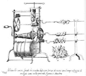 Bartolemeo Scappi -16th Century - Clockwork Spring-driven Spit