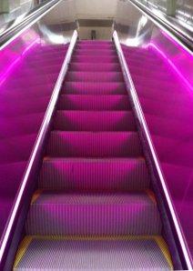 penn station purple escalator 1
