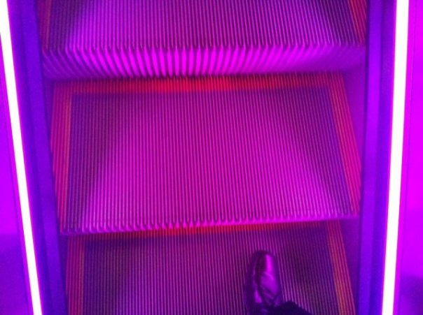 penn station purple escalator 2