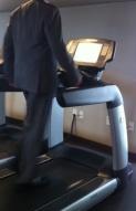 businessman cardio training