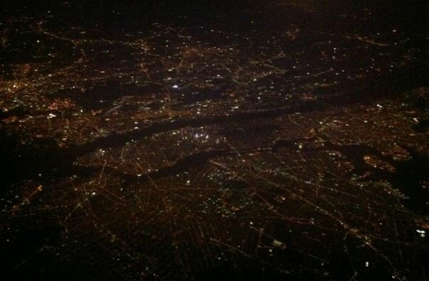night flyover Newark-Manhattan-Brooklyn