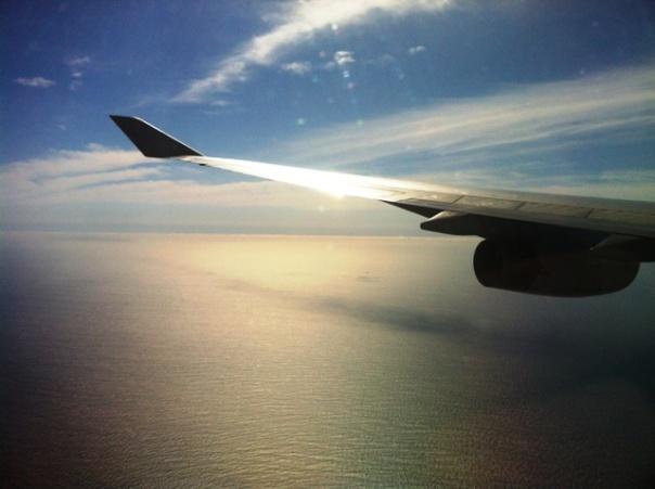 wingtip over water