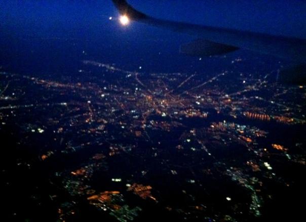 wingtip Washington, DC night