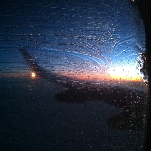 Sunset Wingtip Frozen Rain