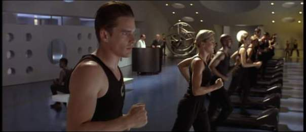 Gattaca Treadmill Scene, aka, What the Gym Looks Like When I'm Business Travelling