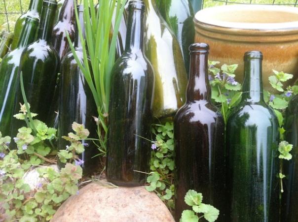 garden green bottles 1