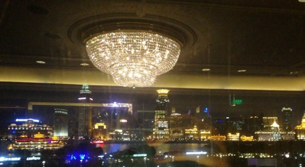 Chandelier Reflections Bund