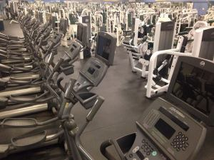 empty gym on New Year's Eve - a space between resolutions