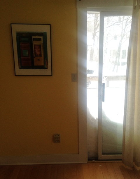 Blizzard Sliding Door Glare