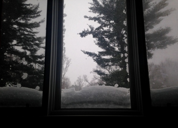 Blizzard Window Triptych