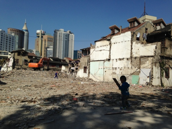 g - building play -Shanghai City Block Demolitions